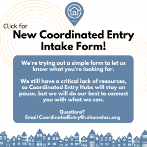 New Coordinated Entry Intake Form